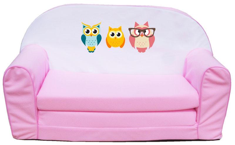 Pink 3 bagoly szivacs kanapé