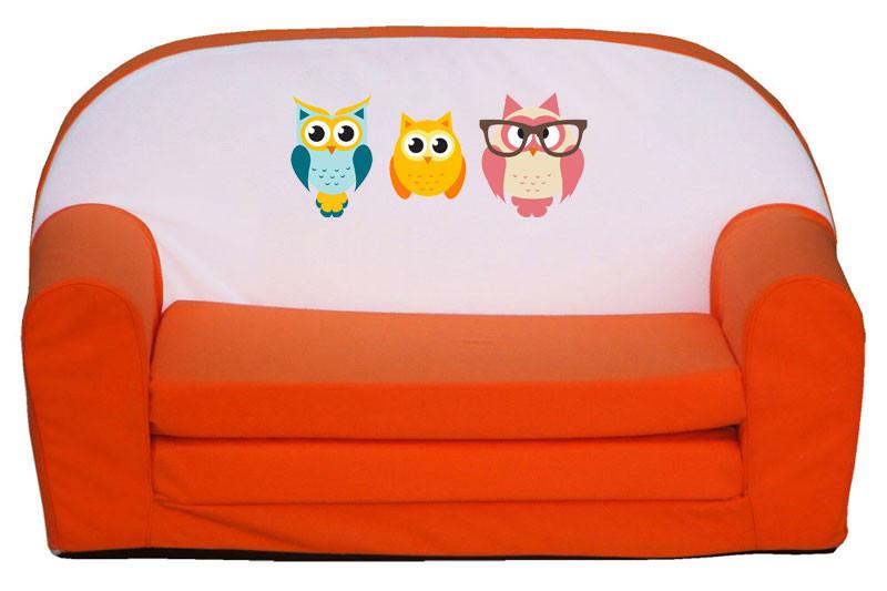Narancs 3 bagoly szivacs kanapé