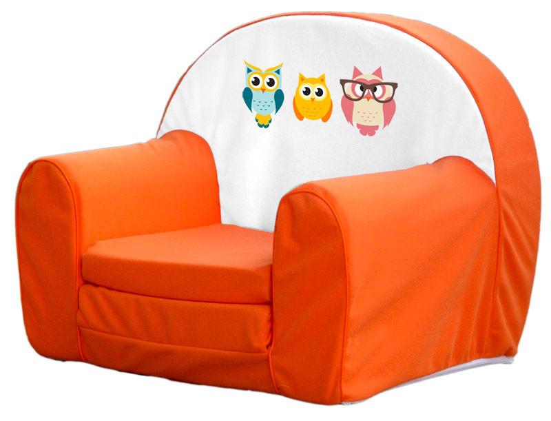 Narancs 3 bagoly szivacs fotel