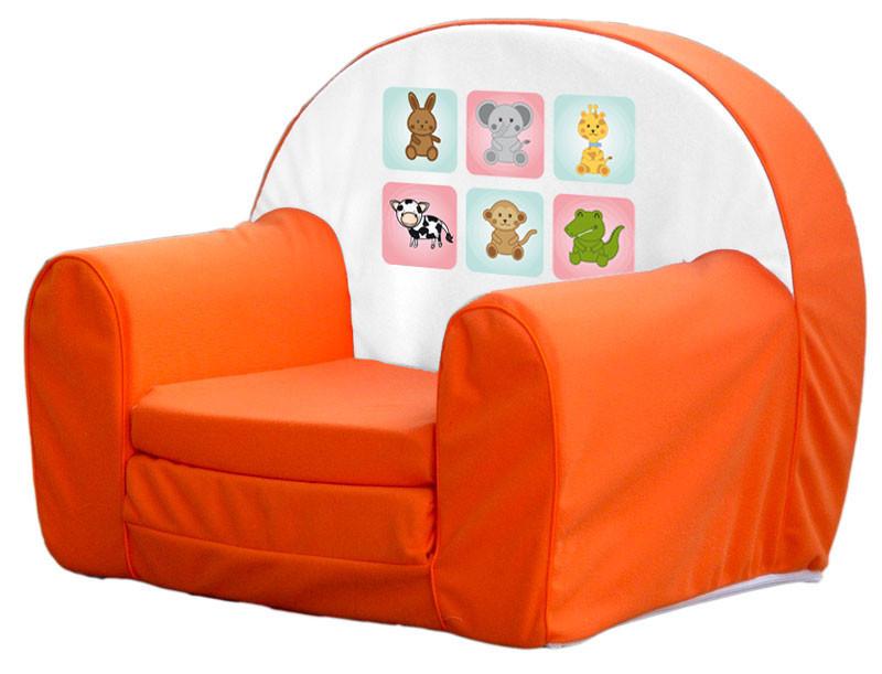 Narancs állatkás szivacs fotel