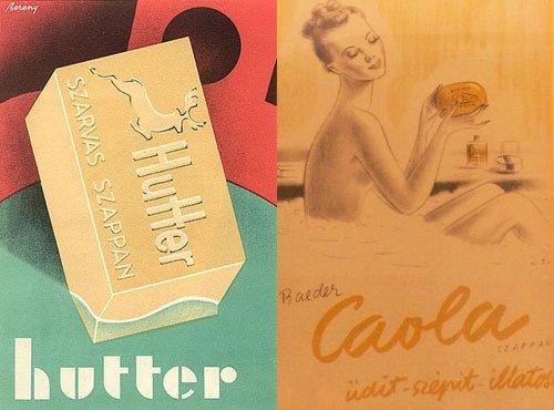 Baeder és Hutter szappanreklámok