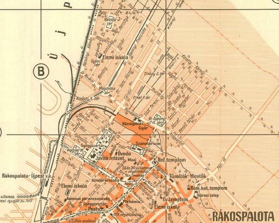 Térképrészlet 1940-ből