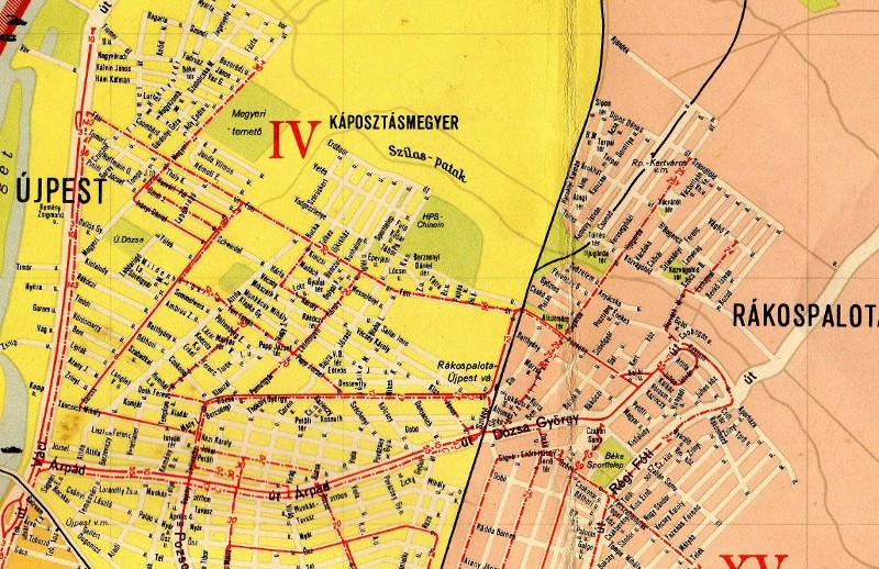 Térképrészlet 1963-ból