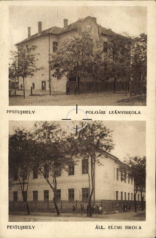 Pestújhelyi iskolák képeslapon
