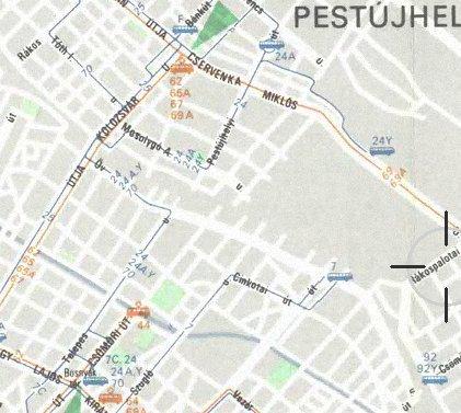 Közlekedési térképrészlet
