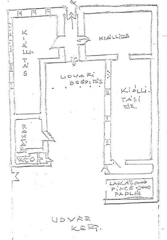 A Rákospalotai Múzeum Kossuth utcai épületének alaprajza