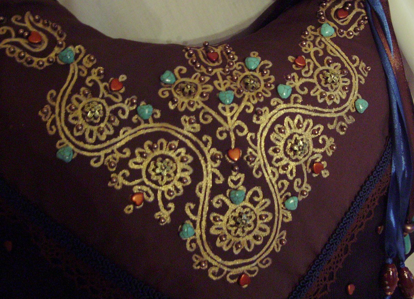 05 Barna-türkisz virágos táska