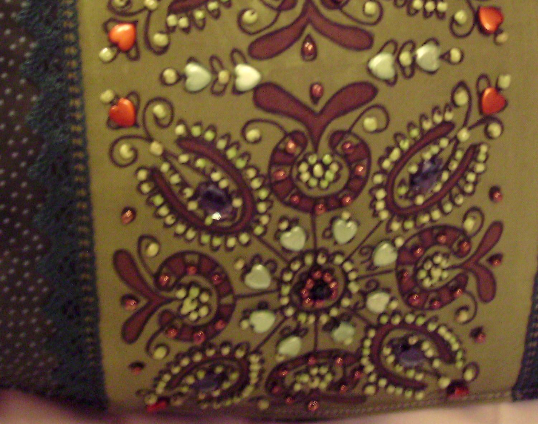 13 Zöld barna táska