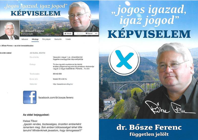 Bősze Ferenc a Facebook-adatlappal a fiataloknak is üzen