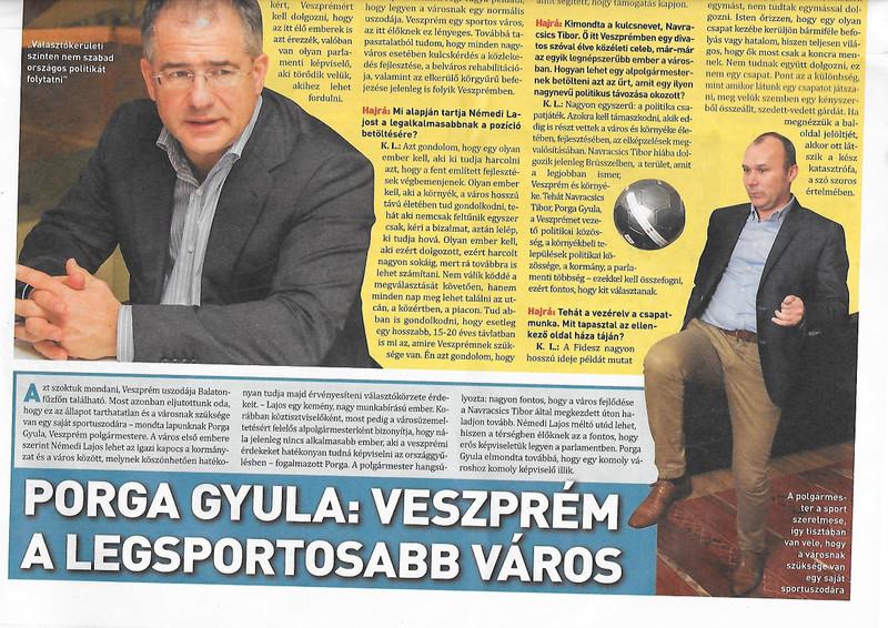 A 'legsportosabb város' #2: Porga polgármester focizik