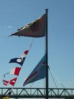 TIT HMHE: 11. Az SMS Szent István csatahajó díszlobogója és a TIT HMHE lob