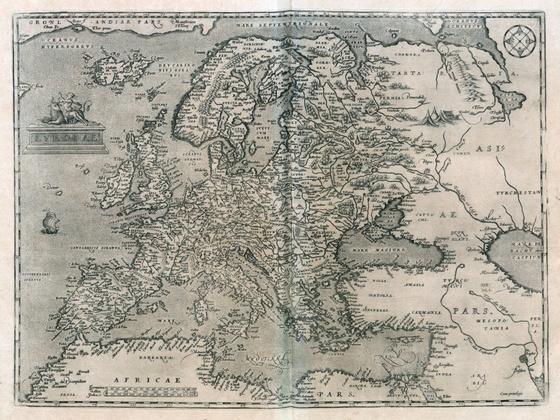Országos Széchényi Könyvtár: Európa térképe a XVI. század második feléből
