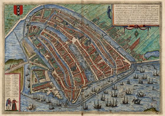Országos Széchényi Könyvtár: Amszterdam (Amstelredamum) a XVI–XVII. század fordulóján