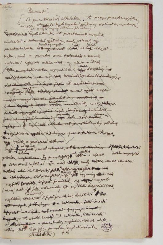 Bartók A magyar népdal c. kötetének (1924) eredeti kézirata