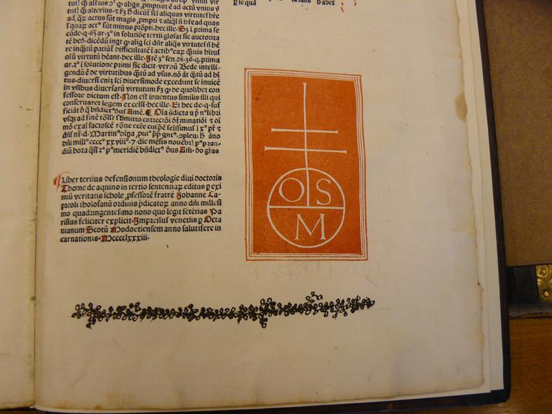 Capreolus harmadik kötetének díszítése a könyv utolsó oldalán