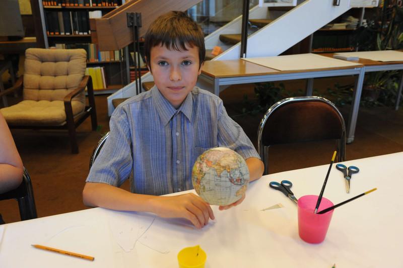Földgömbkészítés, gyerekfoglalkozások