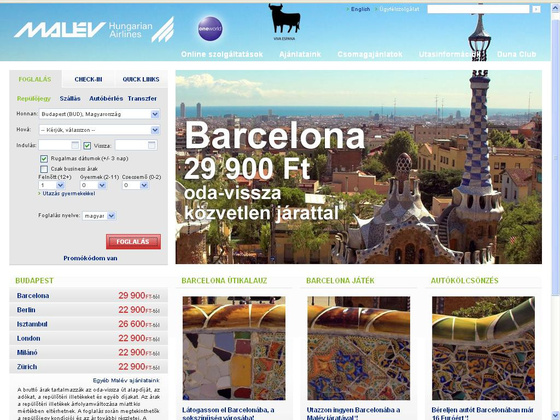 fovarosi.blog.hu: MALEV.hu-2012-screenshot
