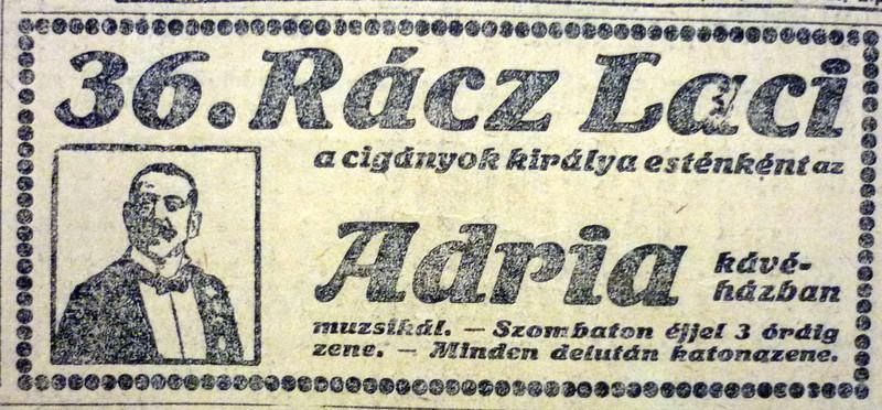 fovarosi.blog.hu: AdriaKavehaz-1913Januar-AzEstHirdetes