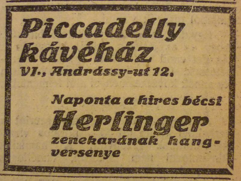 fovarosi.blog.hu: AndrassyUt12-PiccadellyKavehaz-1913Februar-AzEstHirdetes