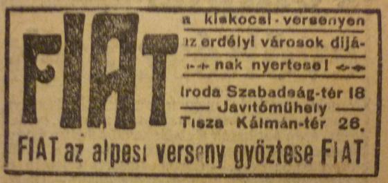 fovarosi.blog.hu: KoztarsasagTer28-Fiat-1913Februar-AzEst