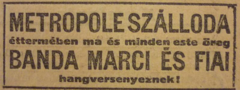 fovarosi.blog.hu: MetropolSzallo-1913Februar-AzEstHirdetes