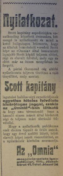 fovarosi.blog.hu: OmniaMozi-1913Marcius-AzEstHirdetes2