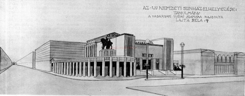 fovarosi.blog.hu: NemzetiSzinhaz-1911-LajtaBelaTerve