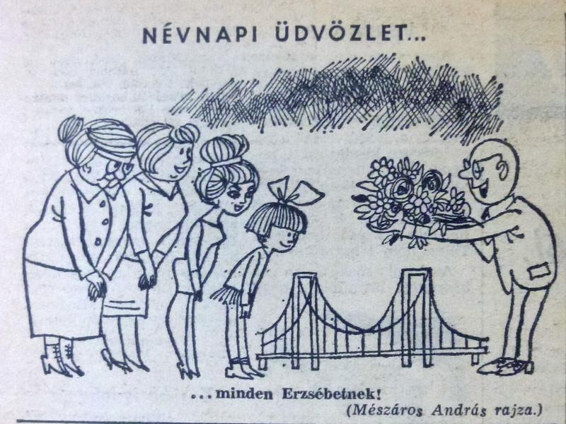 fovarosi.blog.hu: ErzsebetHid-19641118-Karikatura-Nepszabadsag - indafoto.hu