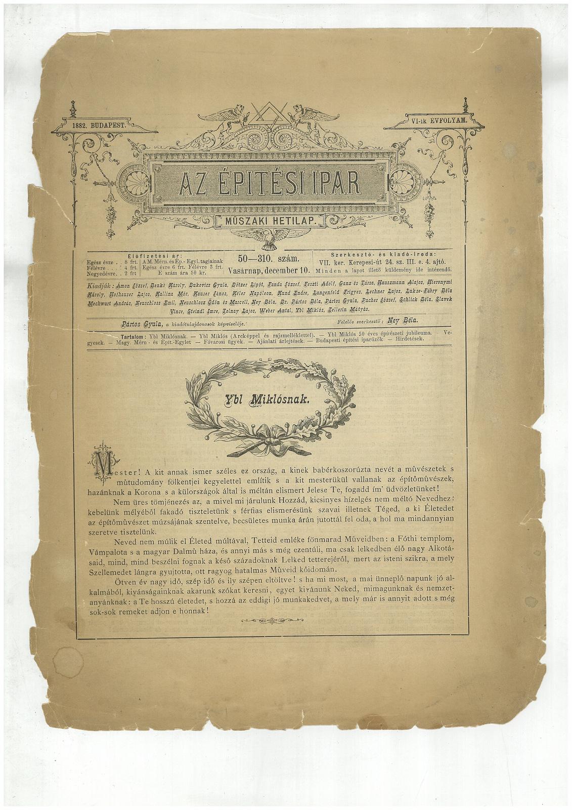 fovarosi.blog.hu: AZ ÉPÍTÉSI IPAR 1882 - indafoto.hu