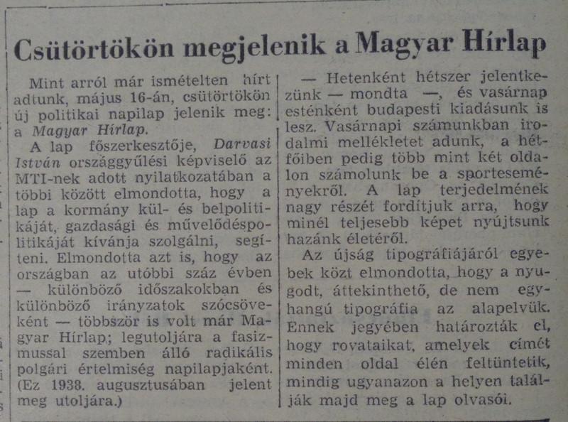 fovarosi.blog.hu: MagyarHirlap-19680514-Nepszabadsag - indafoto.hu