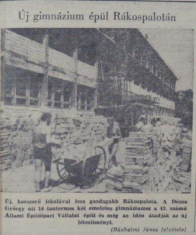 fovarosi.blog.hu: DozsaGyorgyGimnazium-Rakospalota-19680725-Nepszabadsag - indafoto.hu