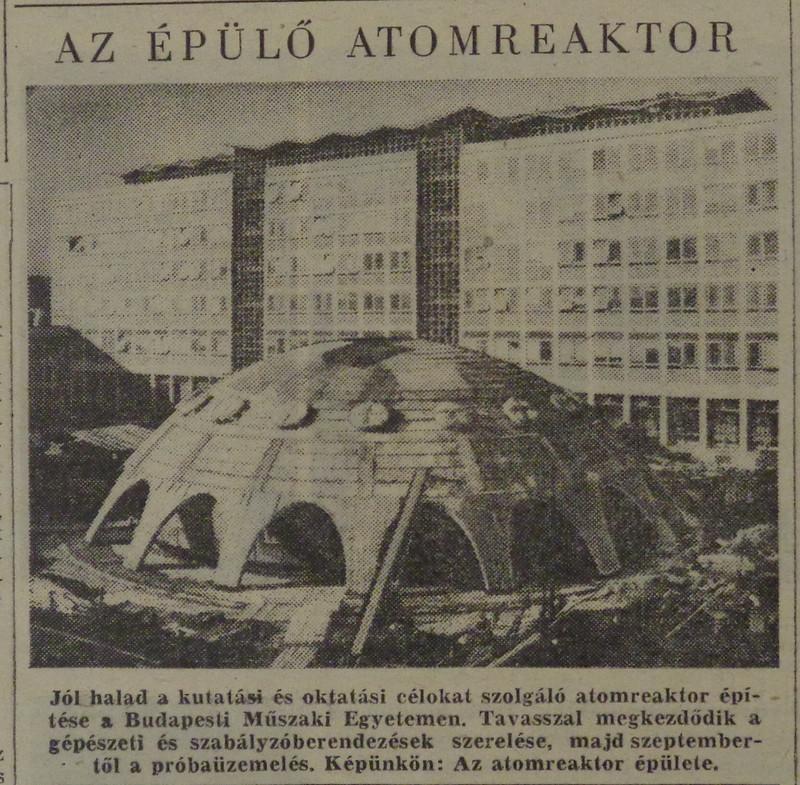 fovarosi.blog.hu: Muegyetem-19690125-Atomreaktor-Nepszabadsag - indafoto.hu