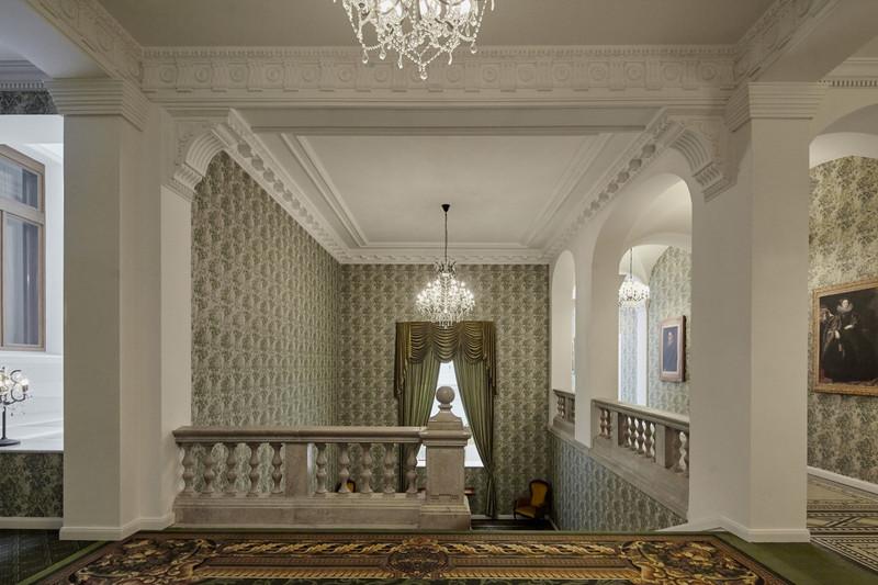 A negyedik emelet előtere. Fotó: Mystery Hotel Budapest<br />