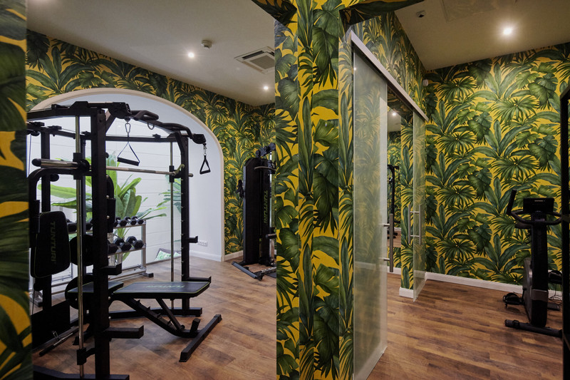 A The Secret Garden Day Spa részleg fitnesz terme. Fotó: Mystery Hotel Budapest