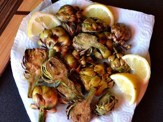 Zoldseg deep fried artichokes 2
