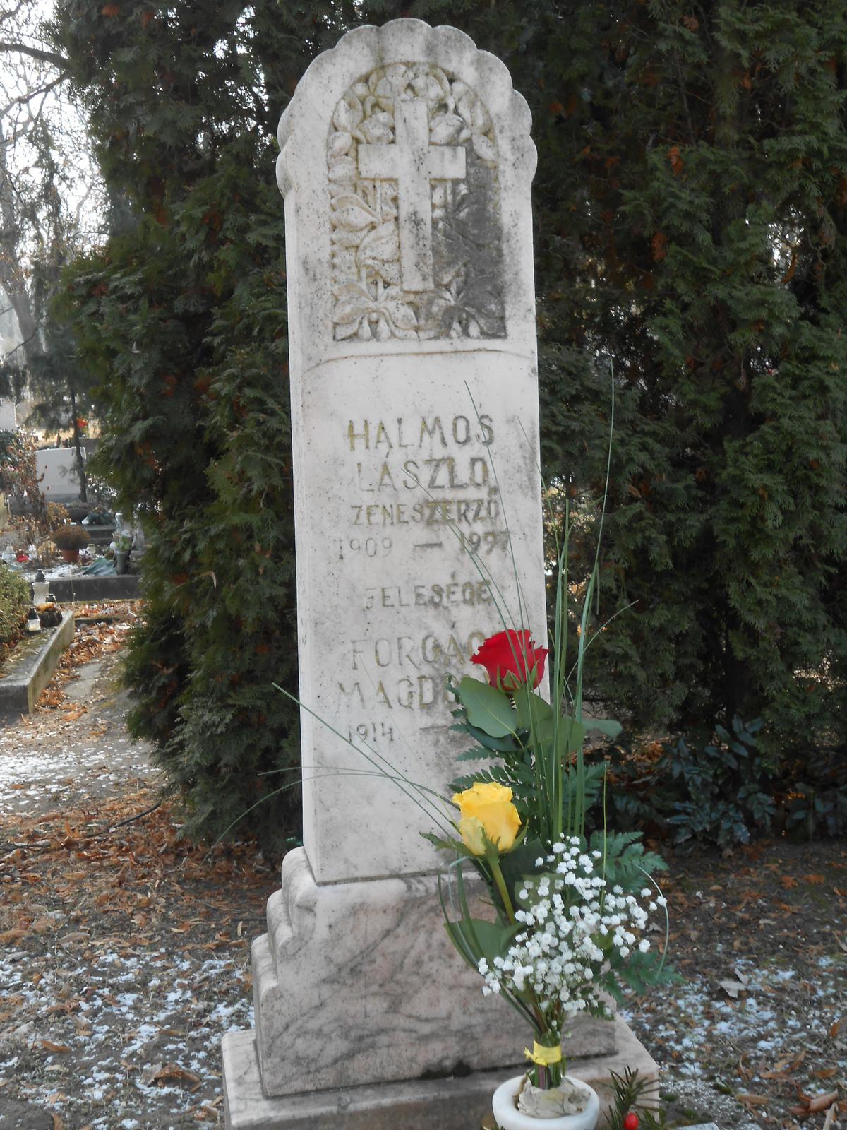 Halmos László sírja . 2017. január 27