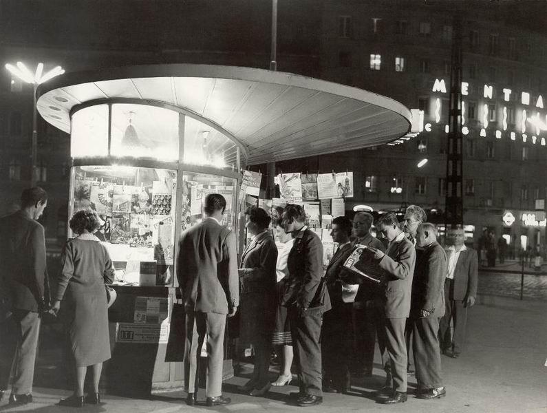 Csigapavilon a Nyugati téren 1958