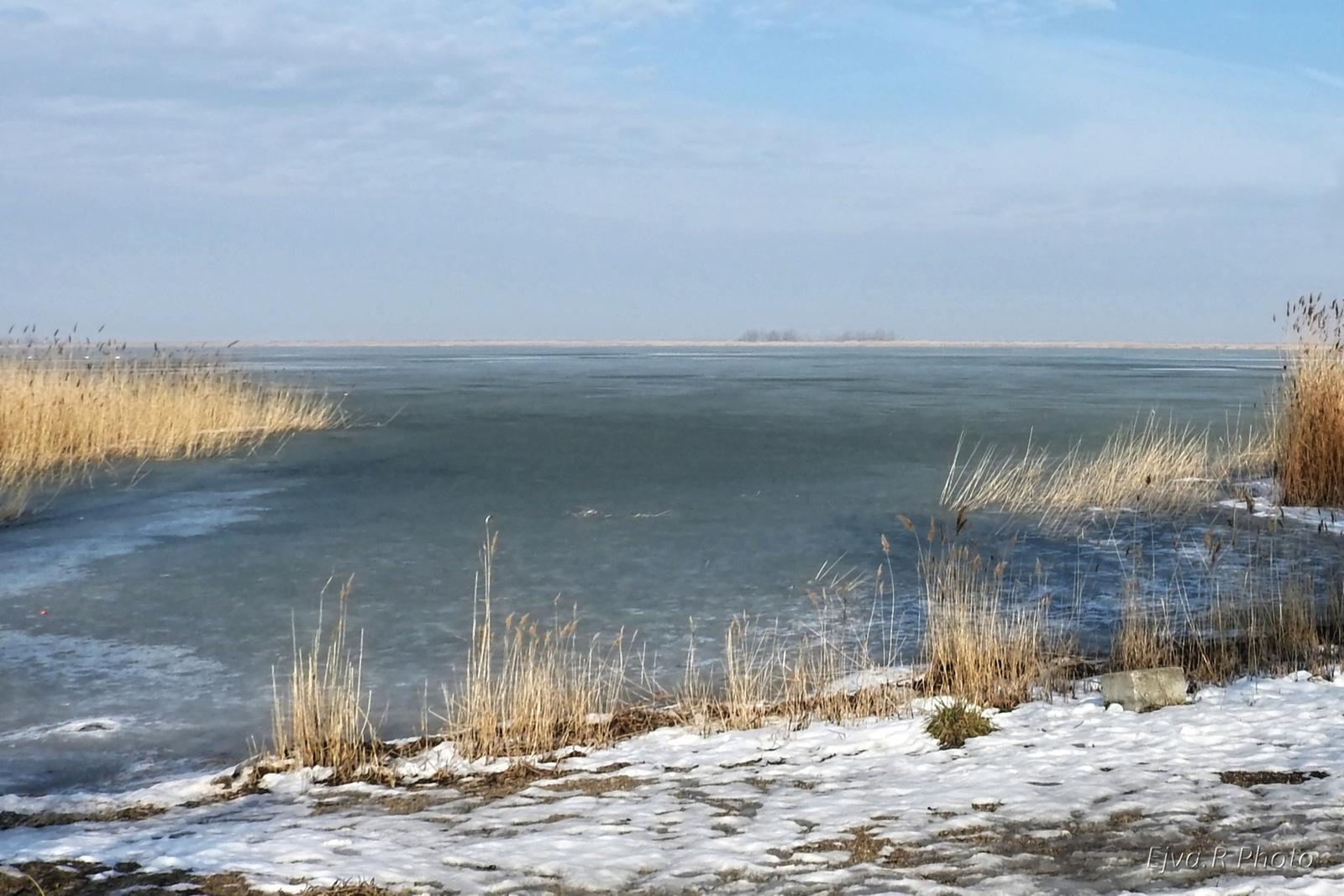 Olvadás Fertő tó Tavasz