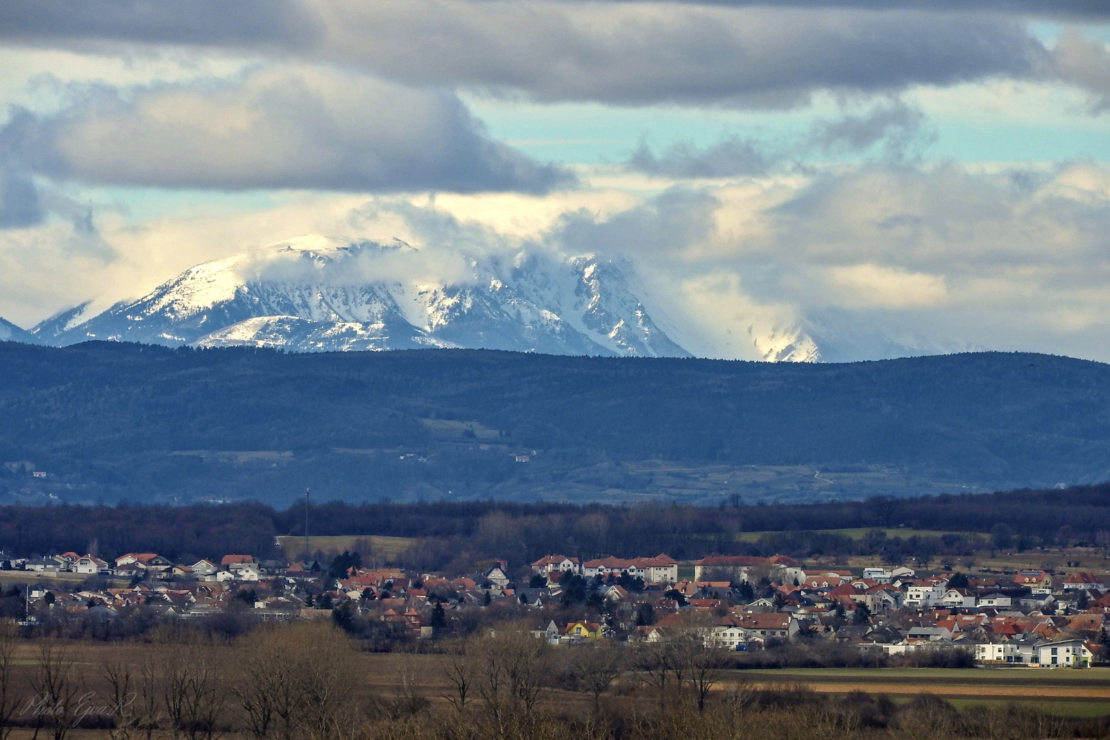 Schneeberg Falu Táj
