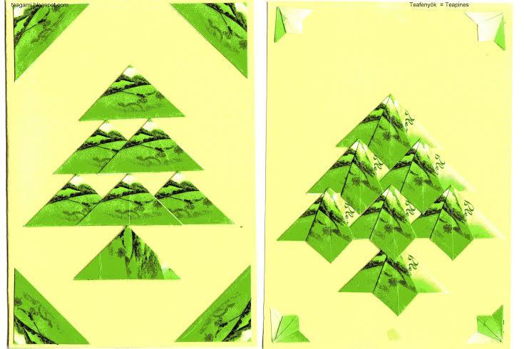 Egyszerű képeslapok teatasakból