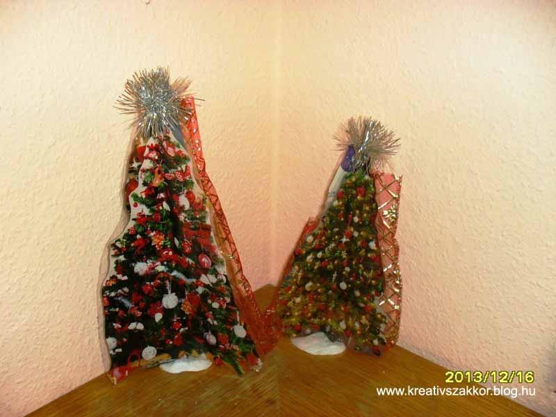 Mini karácsonyfák újságokból