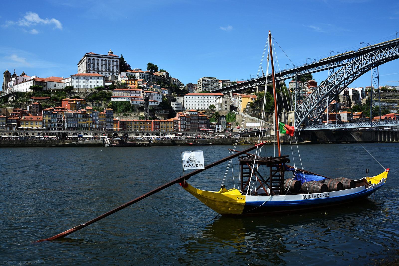 Wine Boats on River Douro in Porto