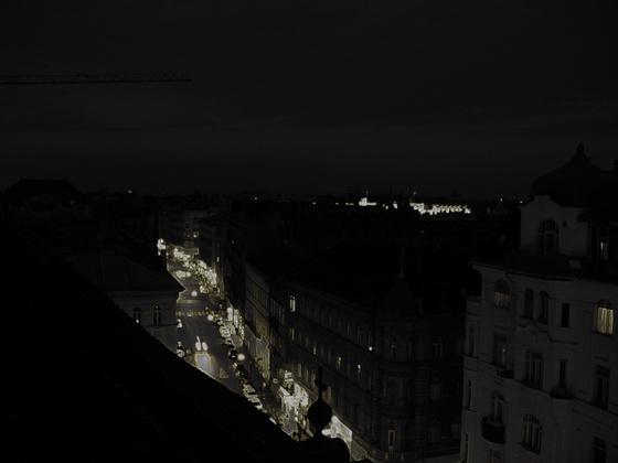 Németh Nóra Király utca a terézvárosi plébániatemplom tetejéről