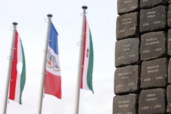 '56-os emlékmű Budapest XVIII. kerületében - fotó: Sárosi Gyula