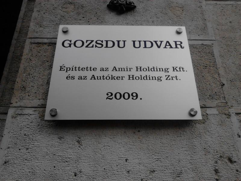 Mikor épült a Gozsdu-udvar? Fotó: Rita