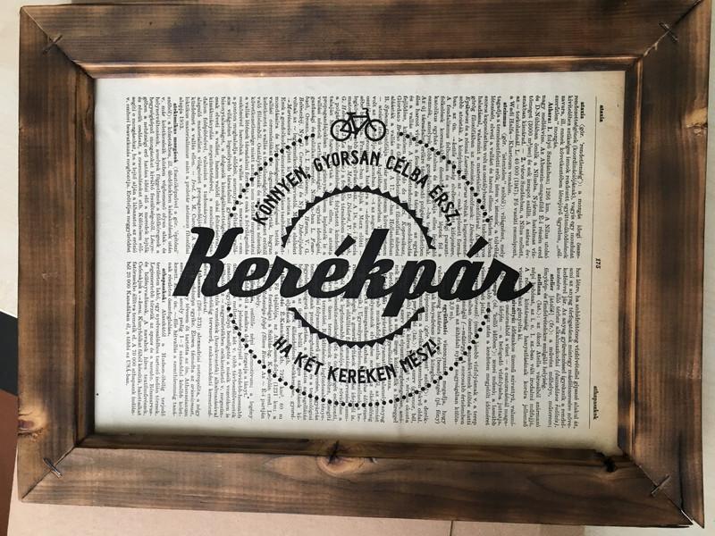 Kerékpár - lexikon nyomat by boldal