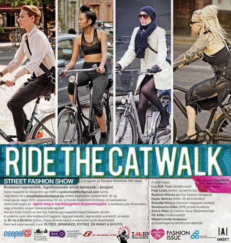 RIDE THE CATWALK! – Biciklis street fashion bemutató az Andrássy úton