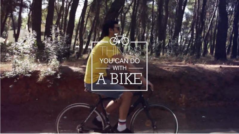 Mi mindent lehet csinálni egy bringán?