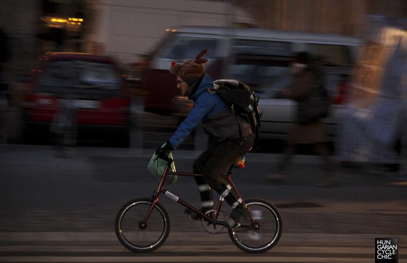 Rénszarvas a biciklin