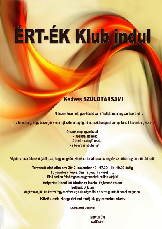 éert-ék klub plakát 20121107